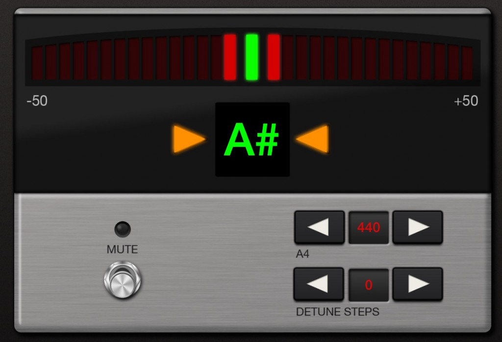 The app includes a nice tuner options also.