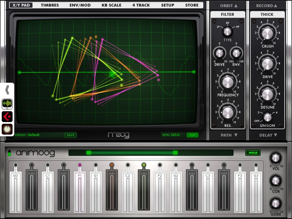 Animoog - Moog's iOS synth is already a bit of a 'classic' :-)