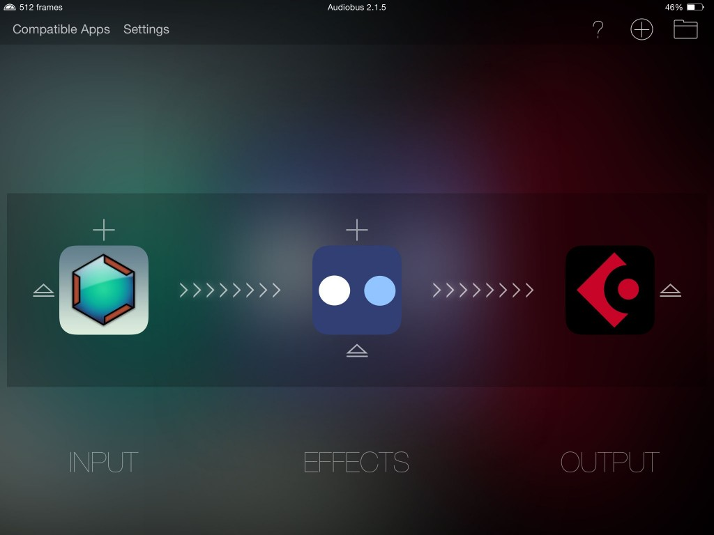 Caustic running within Audiobus under iOS8 :-)