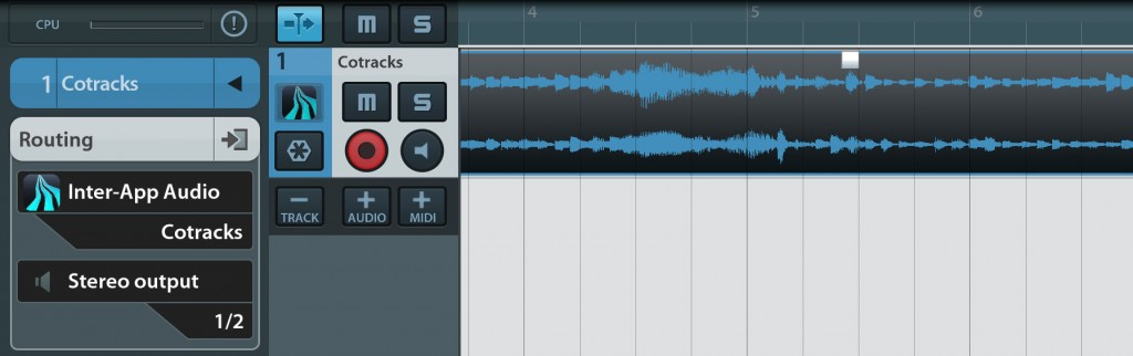 Cotracks can now work as an audio source via IAA in a suitable host such as Cubasis.