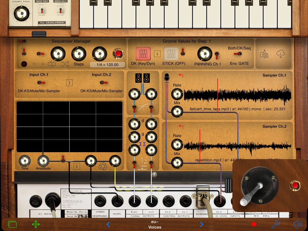 iVCS3; a virtual recreation of a classic hardware synth and now ready for iOS8.