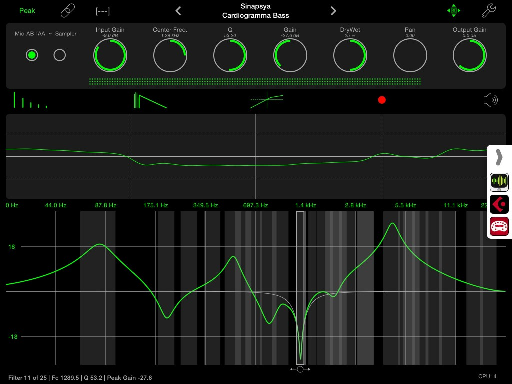 apeFilter; surgical EQ control for iOS music makers.
