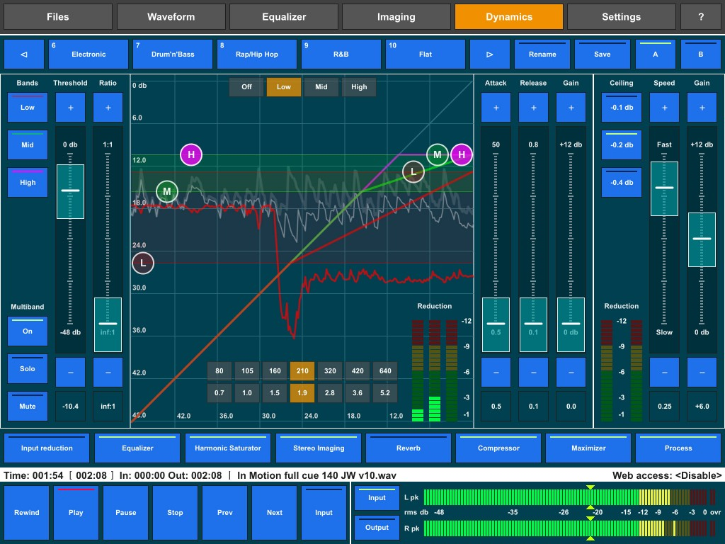 The likes of Audio Mastering (shown here) and Final Touch provide an incredible level of audio processing at a very modest price.