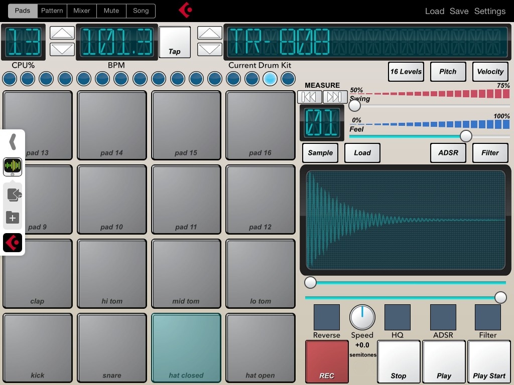Beat-Machine now seems very happy to work within Audiobus under iOS8.