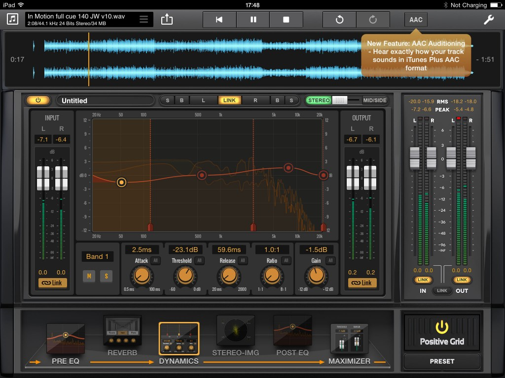 Final Touch now includes the option to preview your track through AAC processing