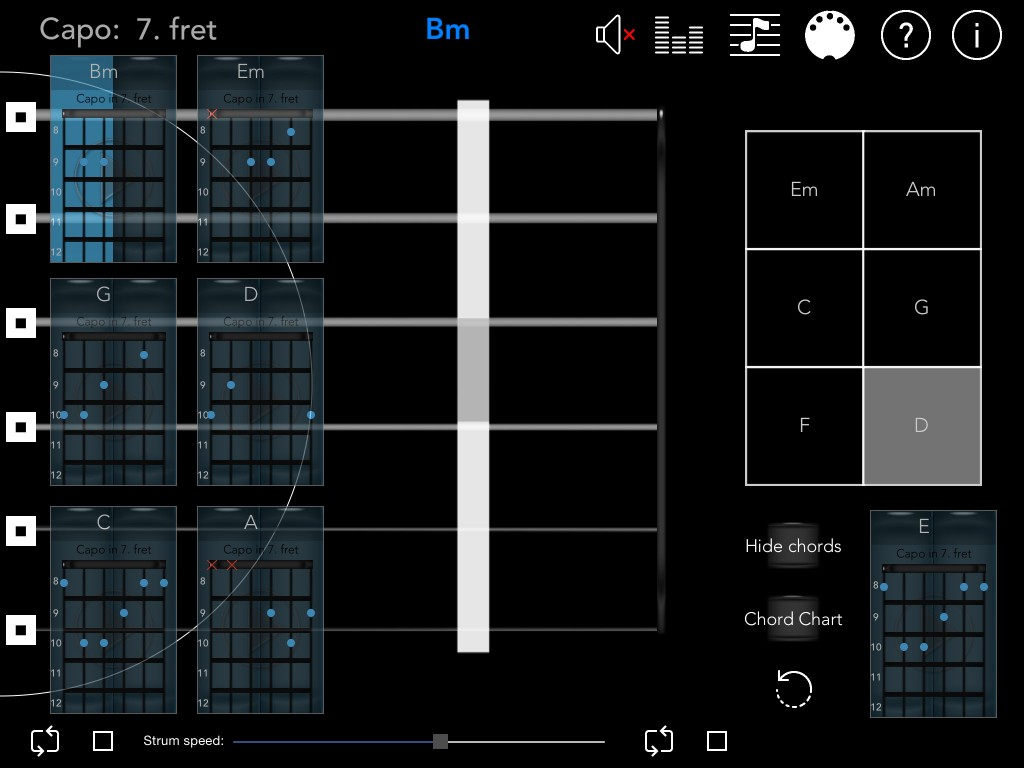 GuitarCapo+; now with iOS8  support and a new MIDI performance mode.