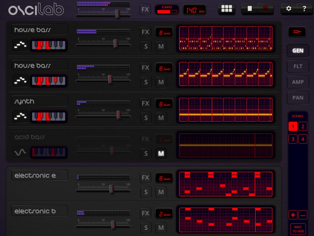 Oscilab; super-cool electronic music making under iOS.