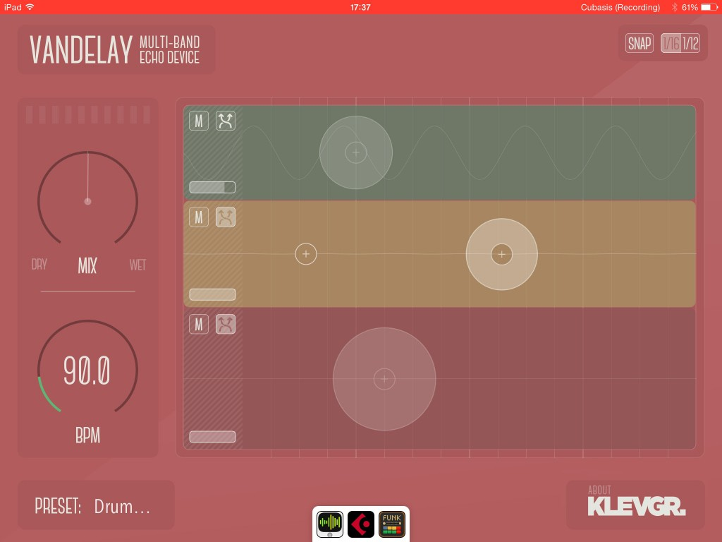 Vandelay; creative three-band delay effects for iOS