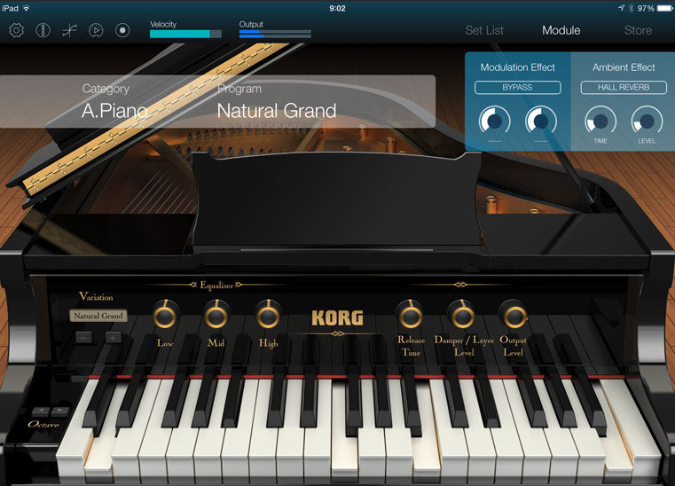 Korg Module; available on the App Store now.