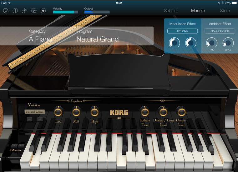 Korg Module; high quality piano and keyboard sounds coming to an App Store near you soon...