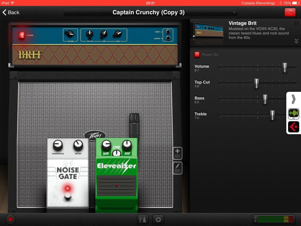 AmpKit+; Agile Partners guitar amp sim working within Audiobus under iOS8.