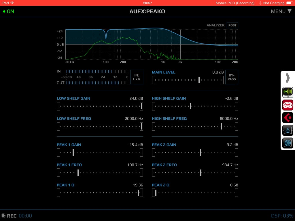 AUFX:PeakQ; an effective EQ app for the iOS musician.