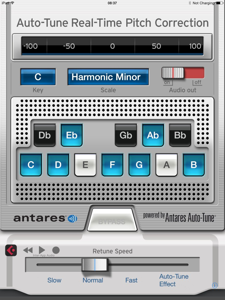 Auto-Tune Mobile; automatic pitch correction in an iOS app.