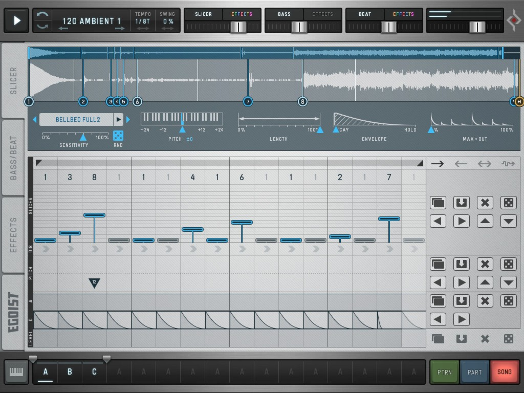 Egoist; loop slicing, bass and beat groove-box all in a very streamlined and creative workflow