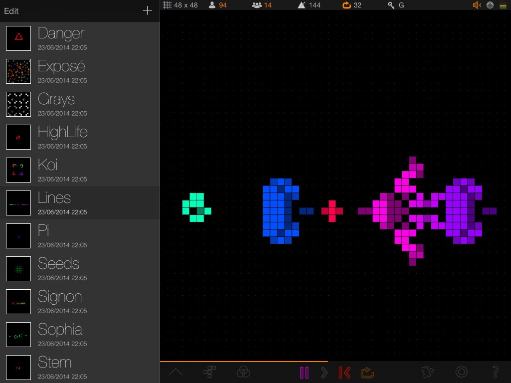 Quincy; generative music and hypnotic graphics.