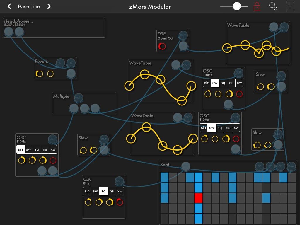 There are some great presets that show off the step/pattern sequencer component.