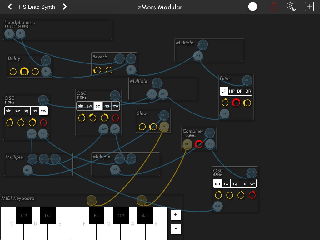 zMors Modular; roll your own virtual synth designs....
