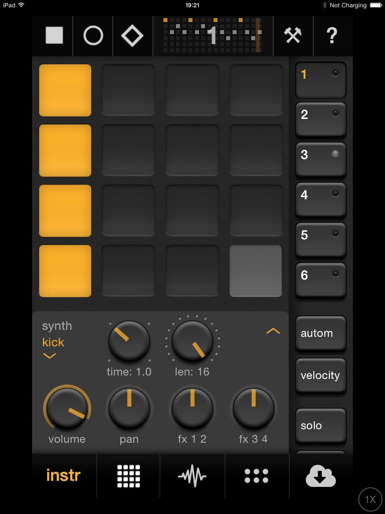 Elastic Drums; a synthesis-based drum machine for iOS.