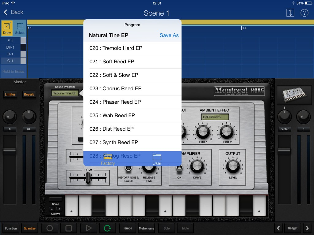 All the appropriate presets  - including any based upon IAP content - appear in the appropriate Gadget gadget.