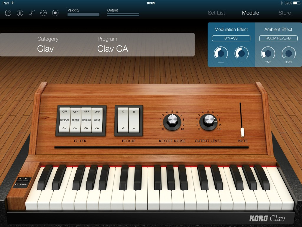The Clav instruments use this retro-styled interface.