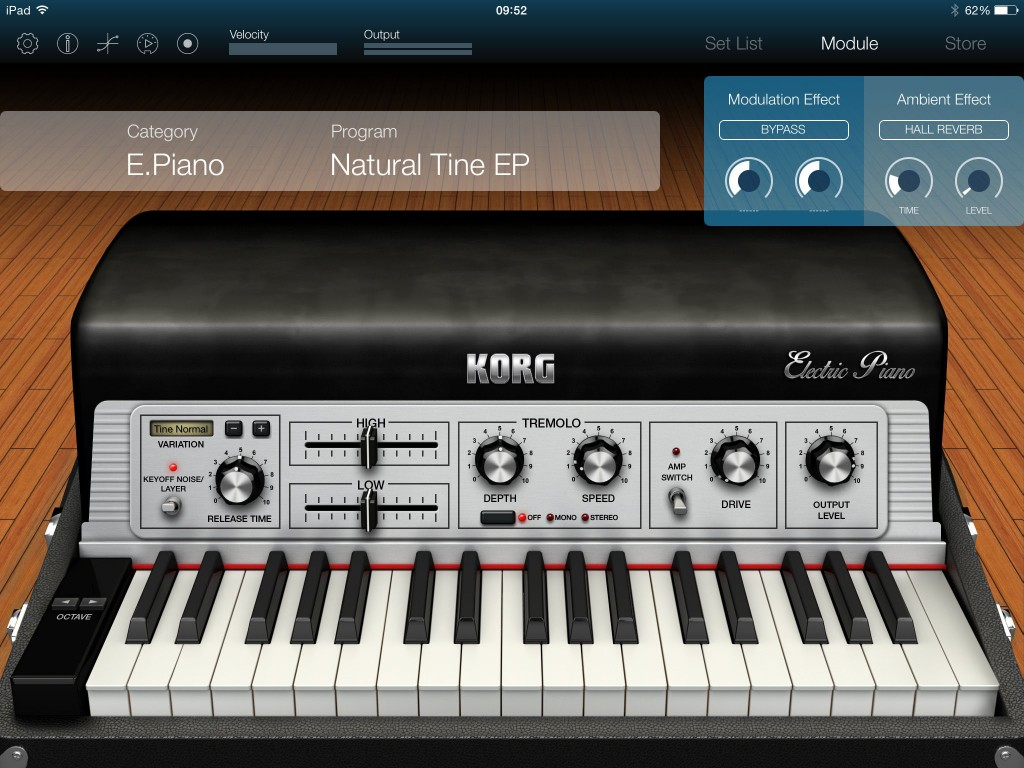 Korg Module doesn't just do acoustic piano sounds; there are electric piano, organ clav and a selection of 'other' sounds also provided in the base app.