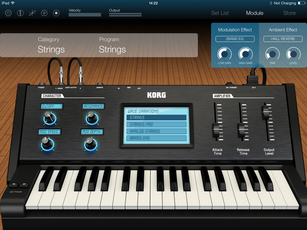Korg Module also includes a fifth 'catch-all' category of sounds dominated by synth patches.