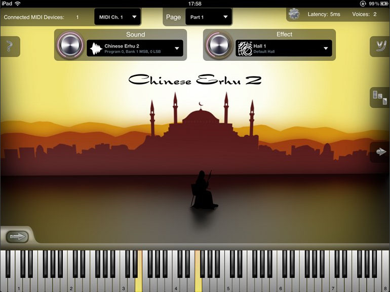 Oriental Stings; the sound of the Middle East  - well, a bit of it - in an app.