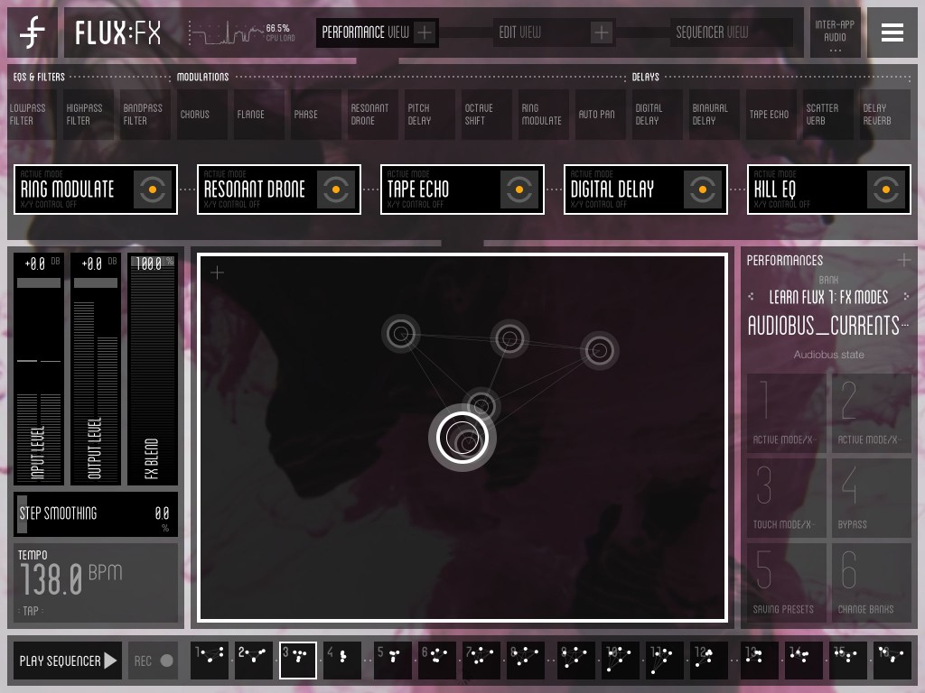 Flux: FX - creative effects for the iOS musician - very slick and sounds awesome.