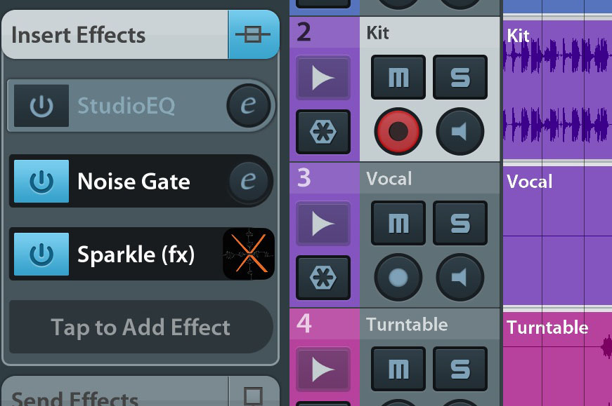 Sparkle can work via Audiobus and IAA as well as in a stand-alone mode.