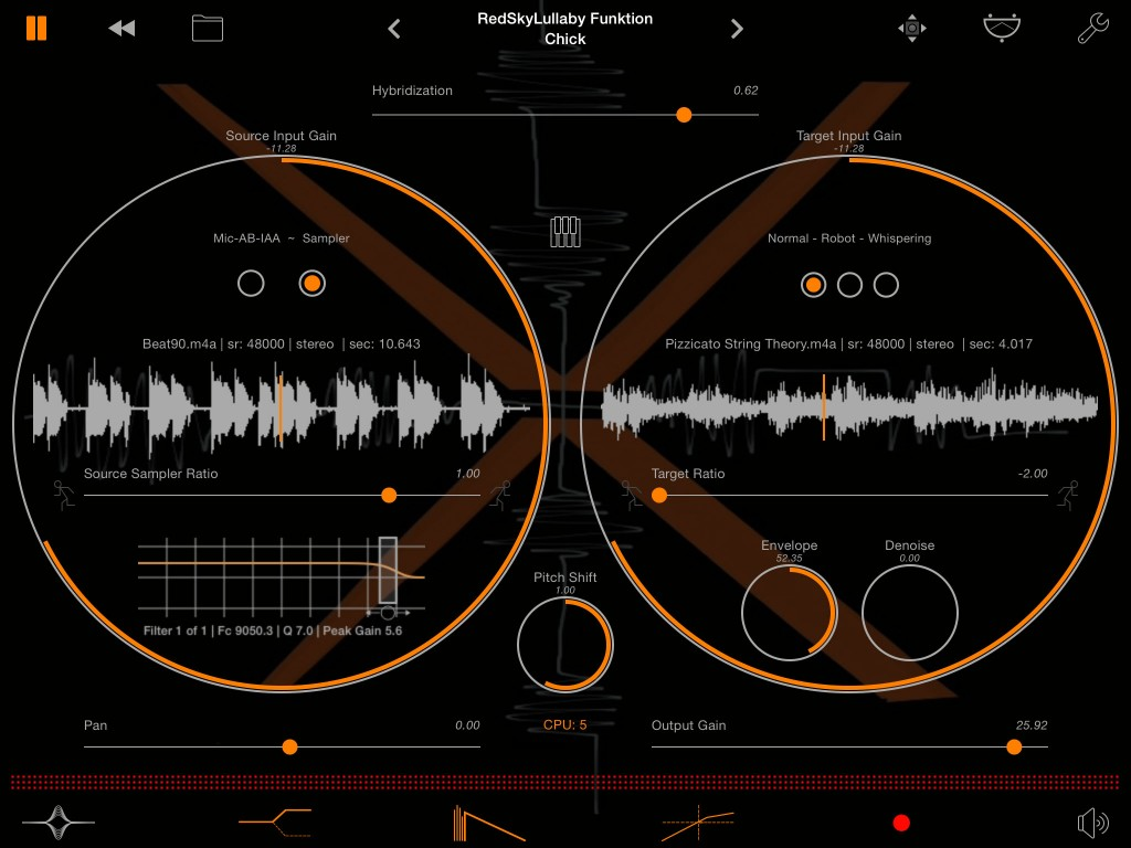 Sparkle - creative audio effect for the more experimental iOS musician.