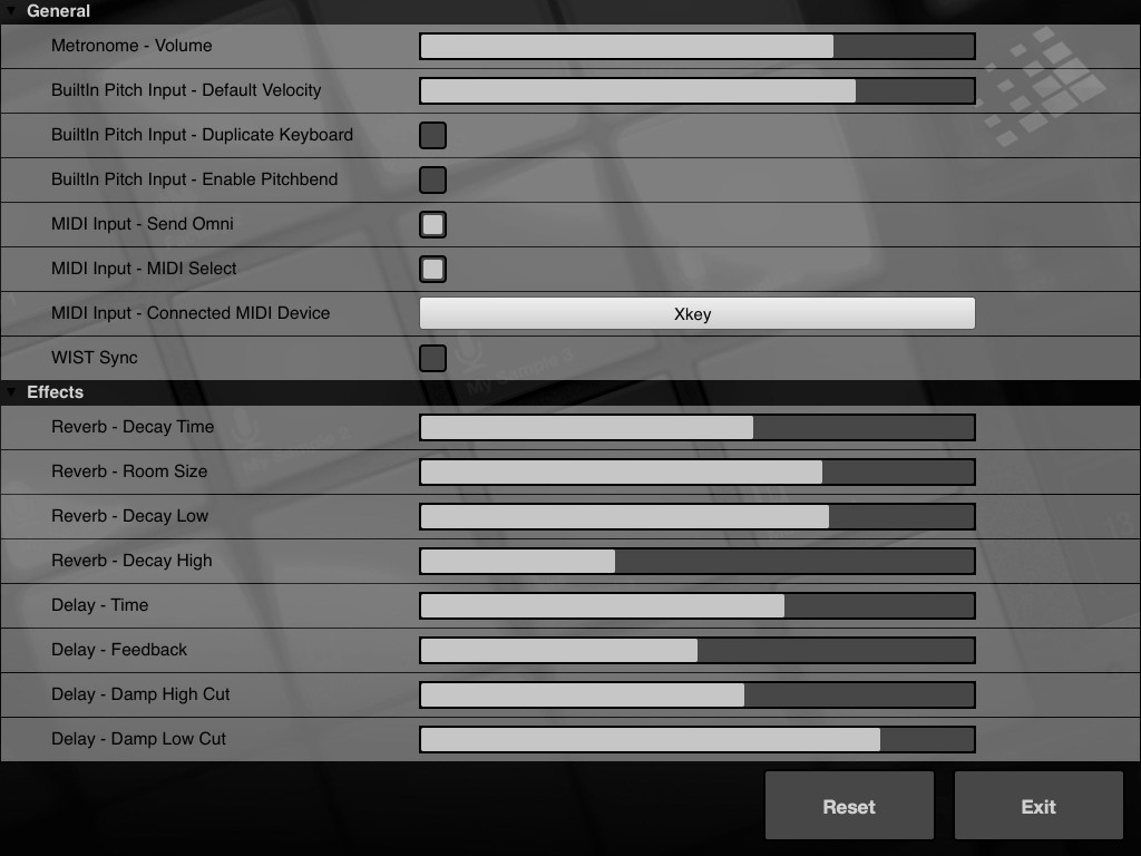 BeatHawk's Preferences page allows you to configure the various MIDI options such as a MIDI input device.
