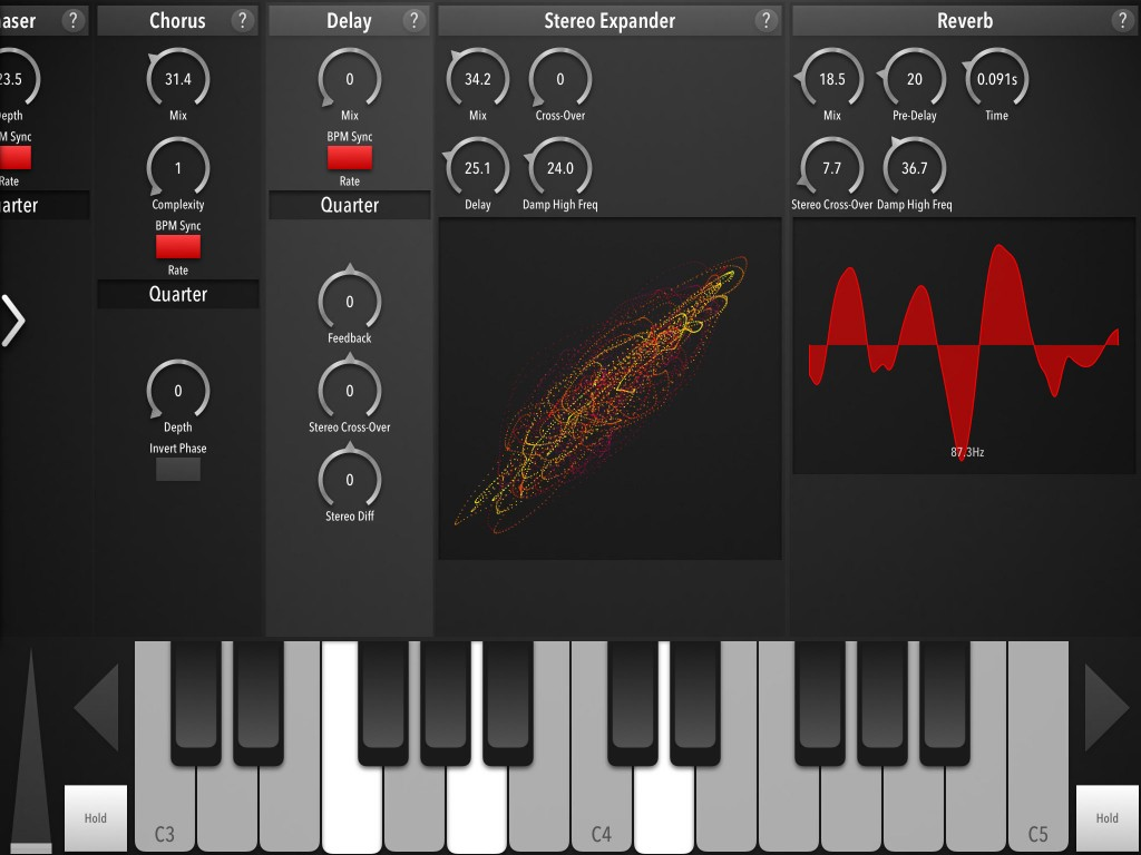 Zed Synth's effects section can take a complex sound and make it even more complex :-)