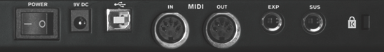 Standard MIDI ports as found on lots of traditional music technology equipment and many audio+MIDI interfaces for computer systems...  but now often replaced by USB or wireless connectivity.