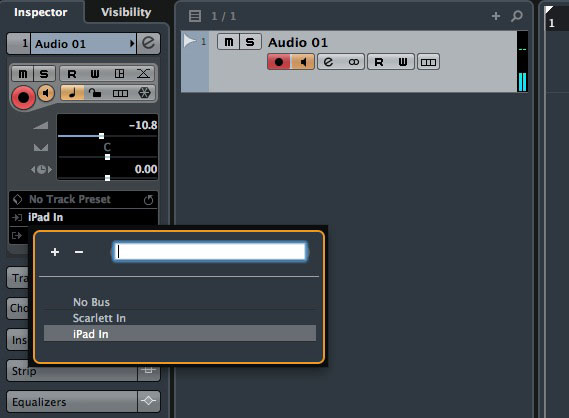My iPads audio outputs become available within Cubase as an audio source thanks to a combination of Audiomux and the aggregate audio device.