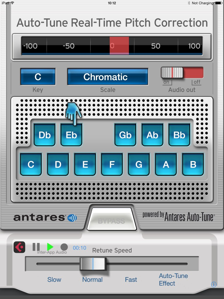 Auto-Tune Mobile... working via IAA within Cubasis.