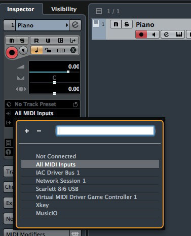 I was able to both send and receive MIDI data into Cubase on my iMac from my iPad.