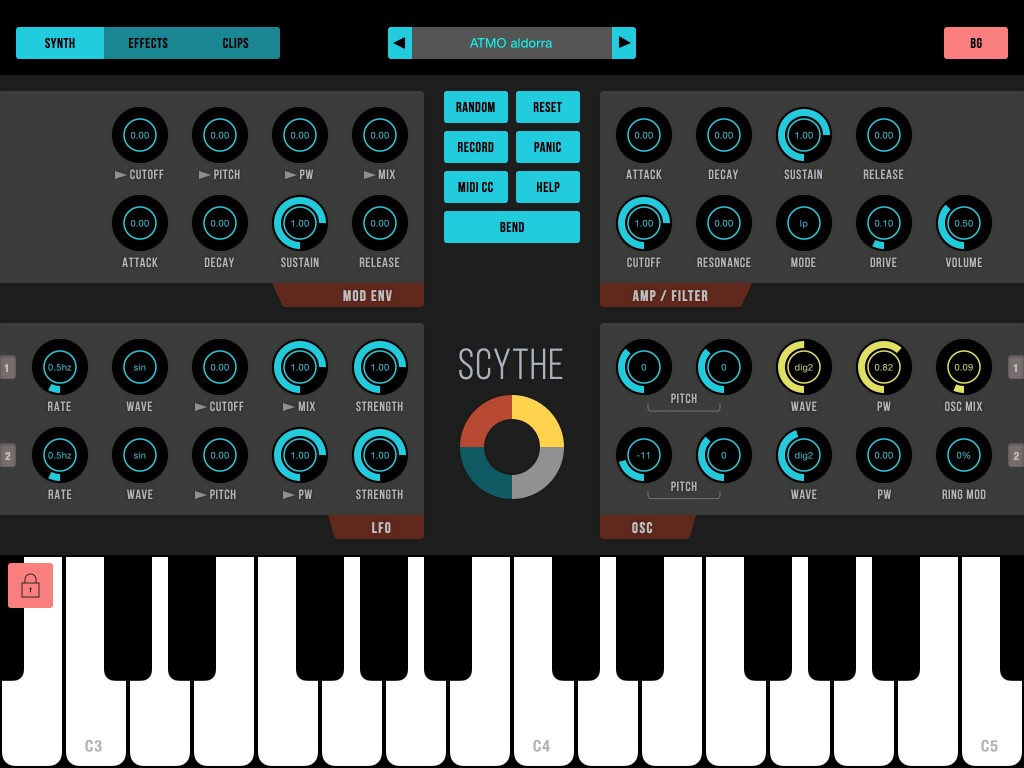 Scythe - budget iOS synth that's easy to program.