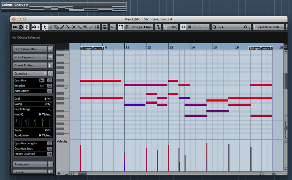 MIDI sequencing can be a sophisticated, feature-packed experience in any of the top desktop DAW/sequencers - the example here shows the Key Editor in Cubase Pro with its 'piano-roll, time-line-based format.