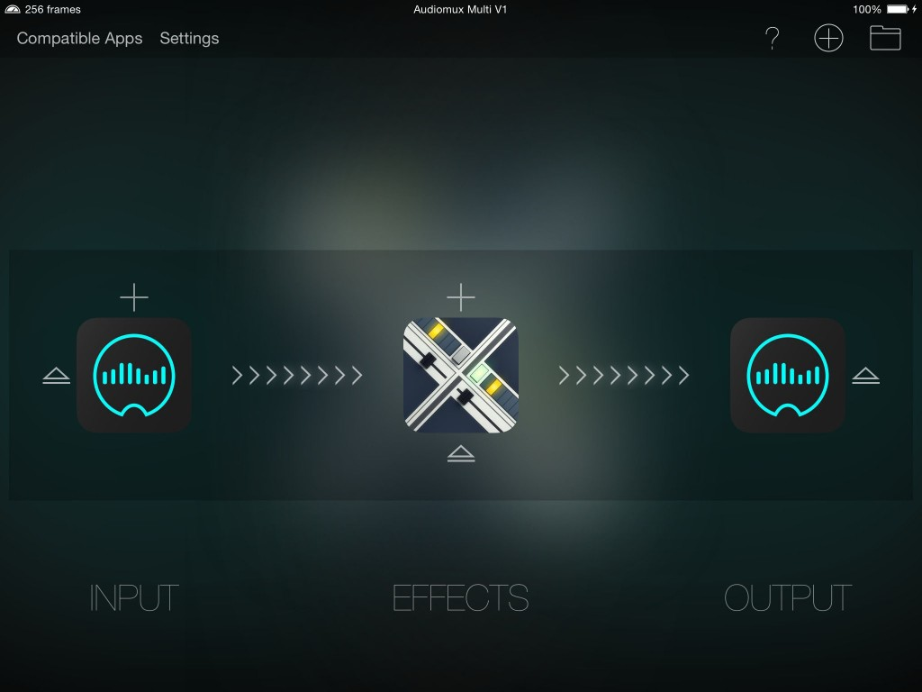 Audiomux can also let you use your iOS device as an effects processor for your desktop system.
