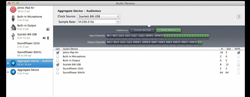 Audiomux now provides multiple audio channels from an iOS device to your desktop.