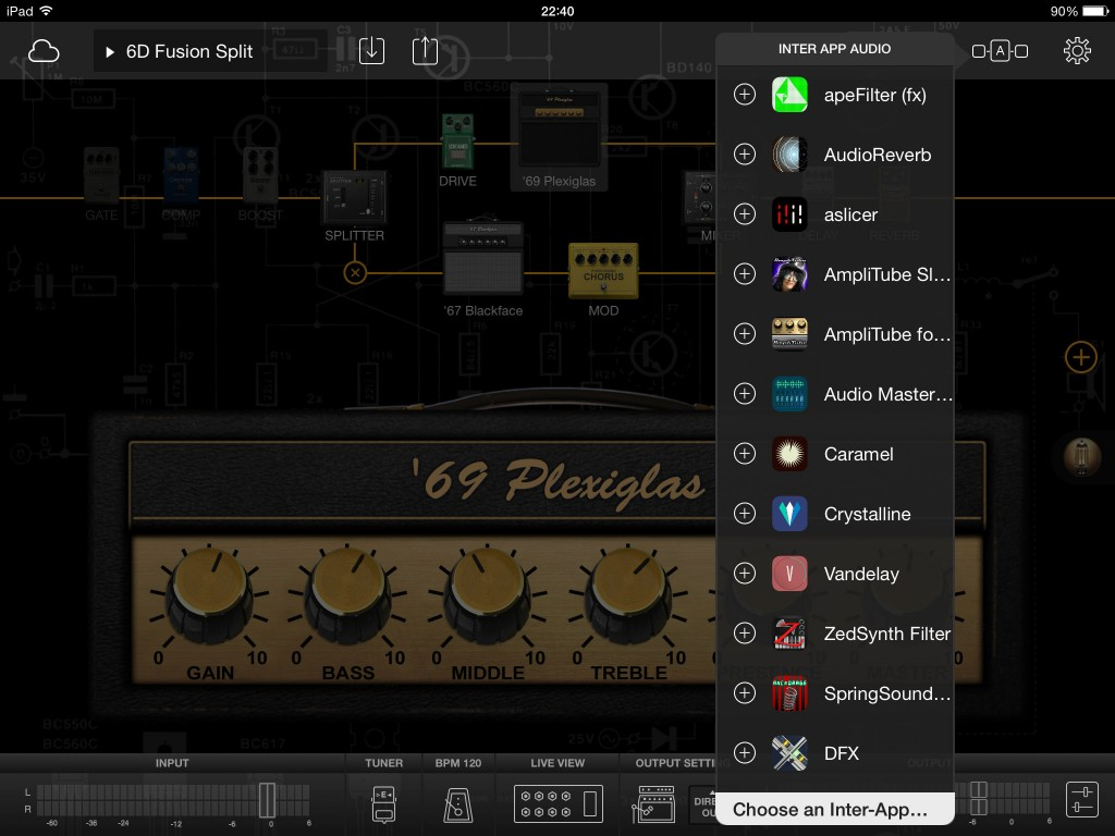 Oooh...  you can add any IAA audio effects app into your signal chain...