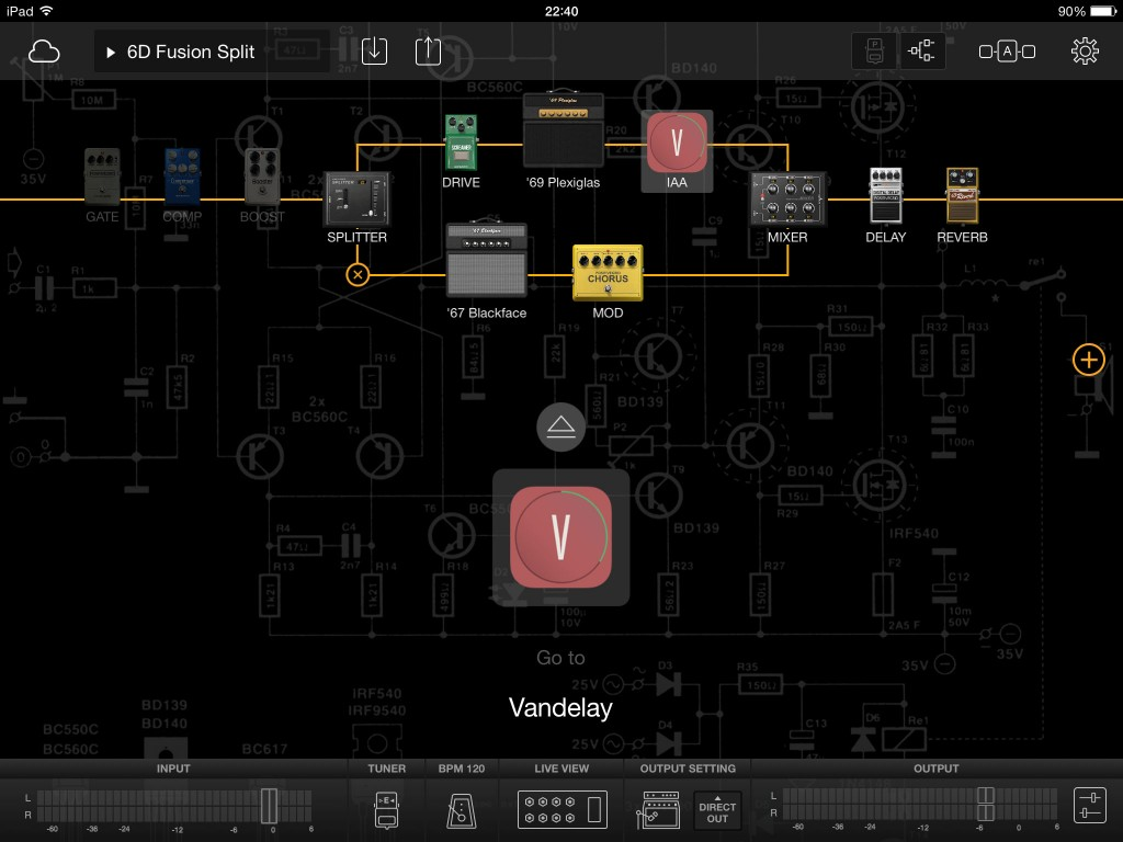 There is also an option to add IAA effects into your signal chain.