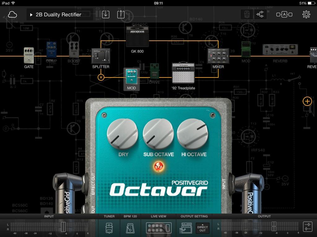I liked the octave pedal...  Royal Blood impression anyone?