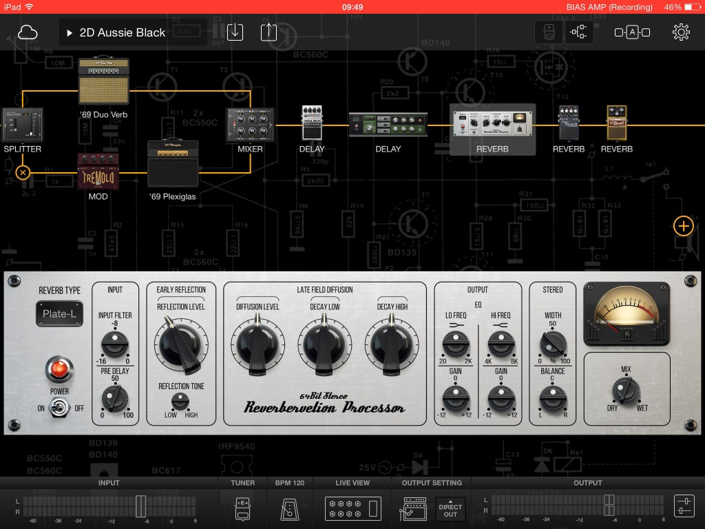 The rack-styled stereo reverb sounds very good indeed.
