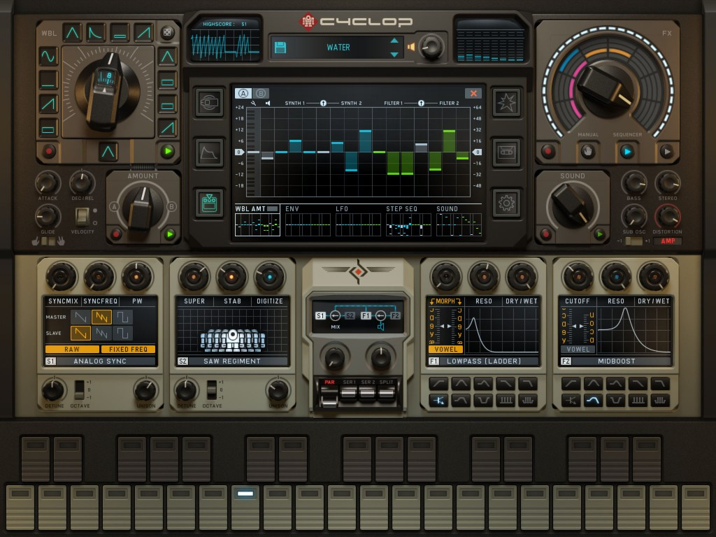 Cyclop - Sugar Bytes bring their bass synth to the iPad.