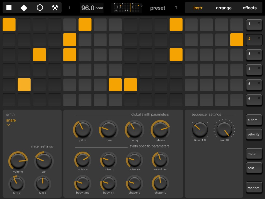 Elastic Drums - if you like your drum sounds electronic, then this is an app to place on your 'most wanted' list.