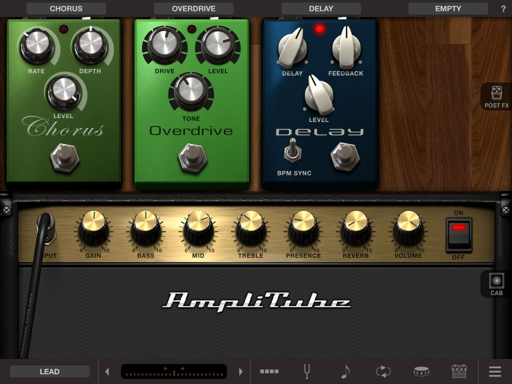 AmpliTube 4 - revamped visuals but, more significantly, revamped sound engine.
