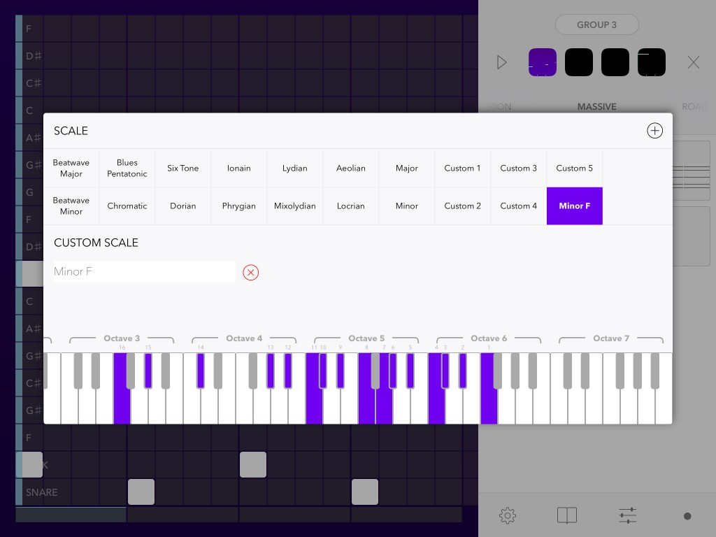 Beatwave allows you to pick a key/scale combination and everything is then kept 'in tune' for you.