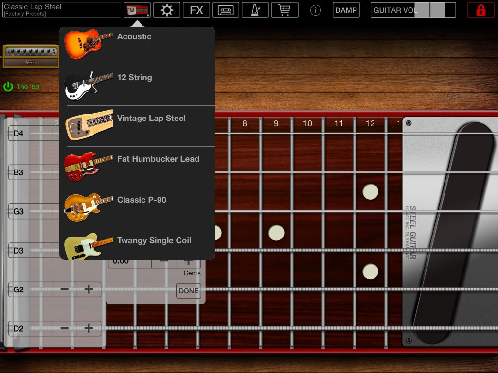 The IAPs provide access to a range of further features including a selection of additional guitar models.