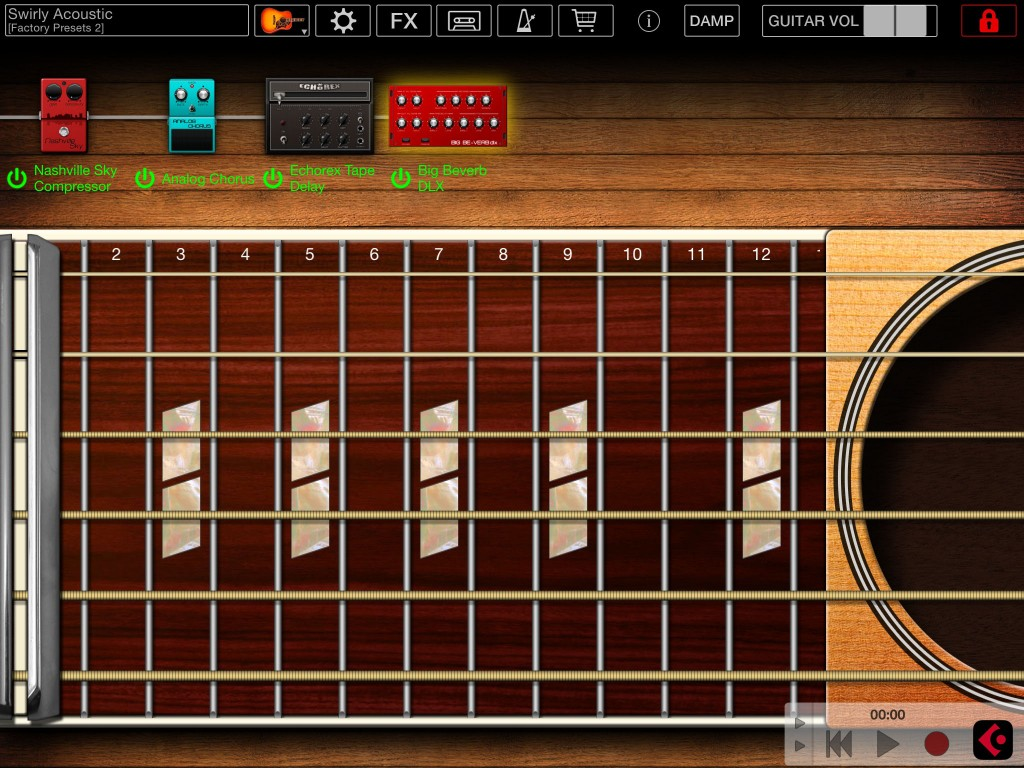 The app offers a sort of mini-ToneStack and you can add additional amps and effects via IAPs.